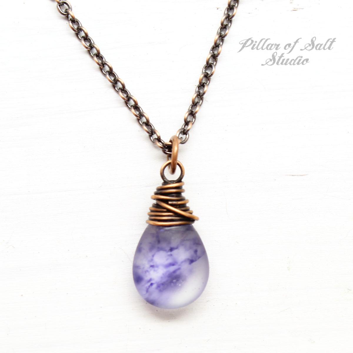Misty Blue Agate Necklace