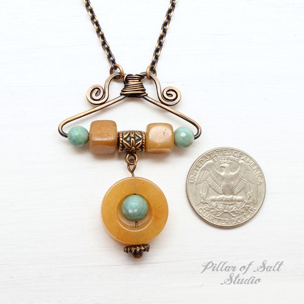 Orange & Aqua Necklace