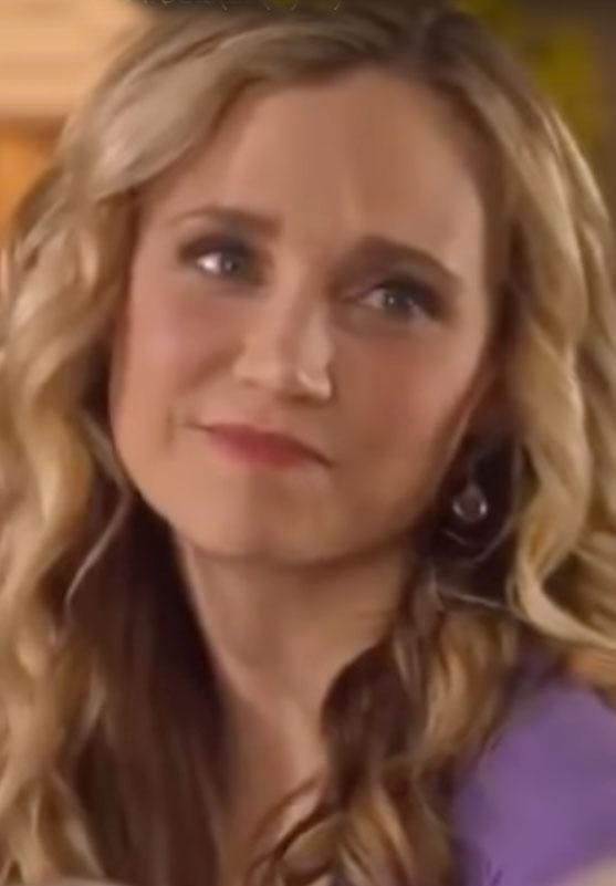 "Violet Quartz Rose Gold Filled Earrings worn on Hallmark's ""Easter Under Wraps"""