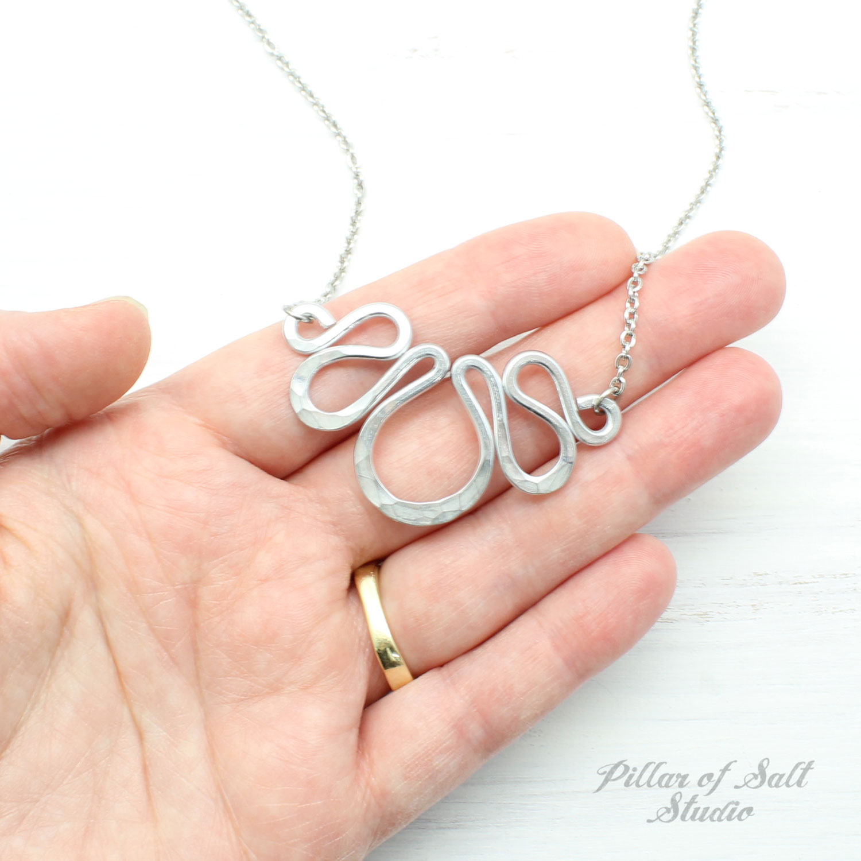 Aluminum Small Bib Necklace