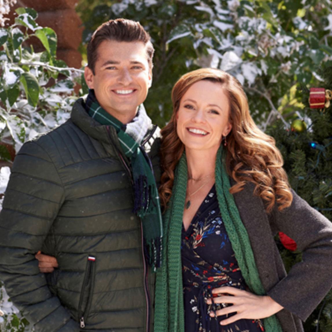 "worn by Rachel Boston in ""Check Inn to Christmas"" on Hallmark Channel."