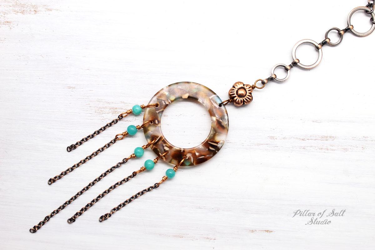 Long Mermaid Fringe Necklace