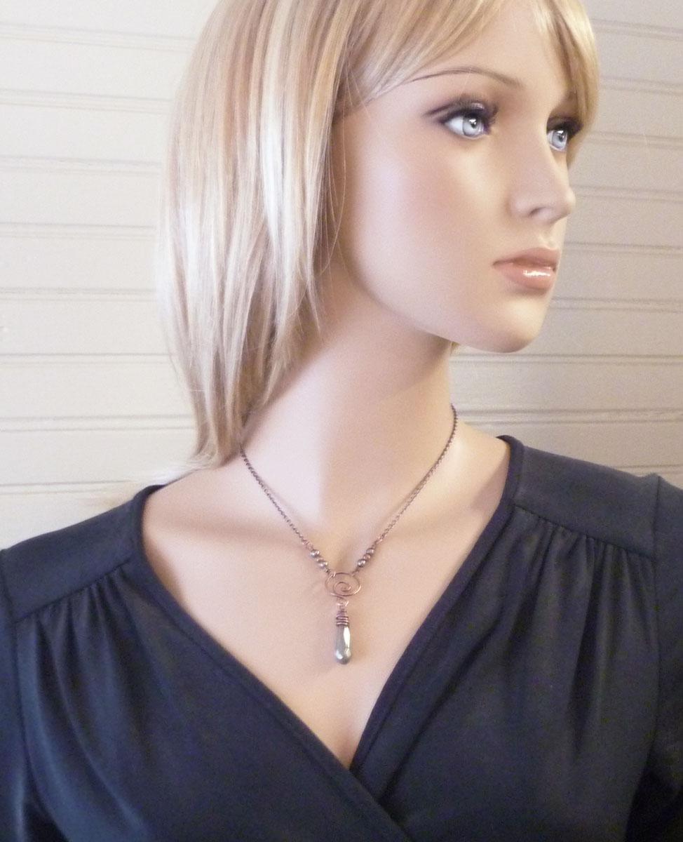 Pyrite Faceted Drop Necklace