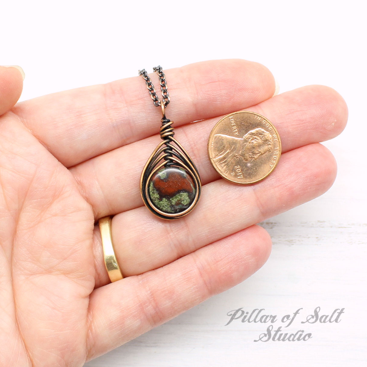Dragon Blood Jasper Pendant Necklace