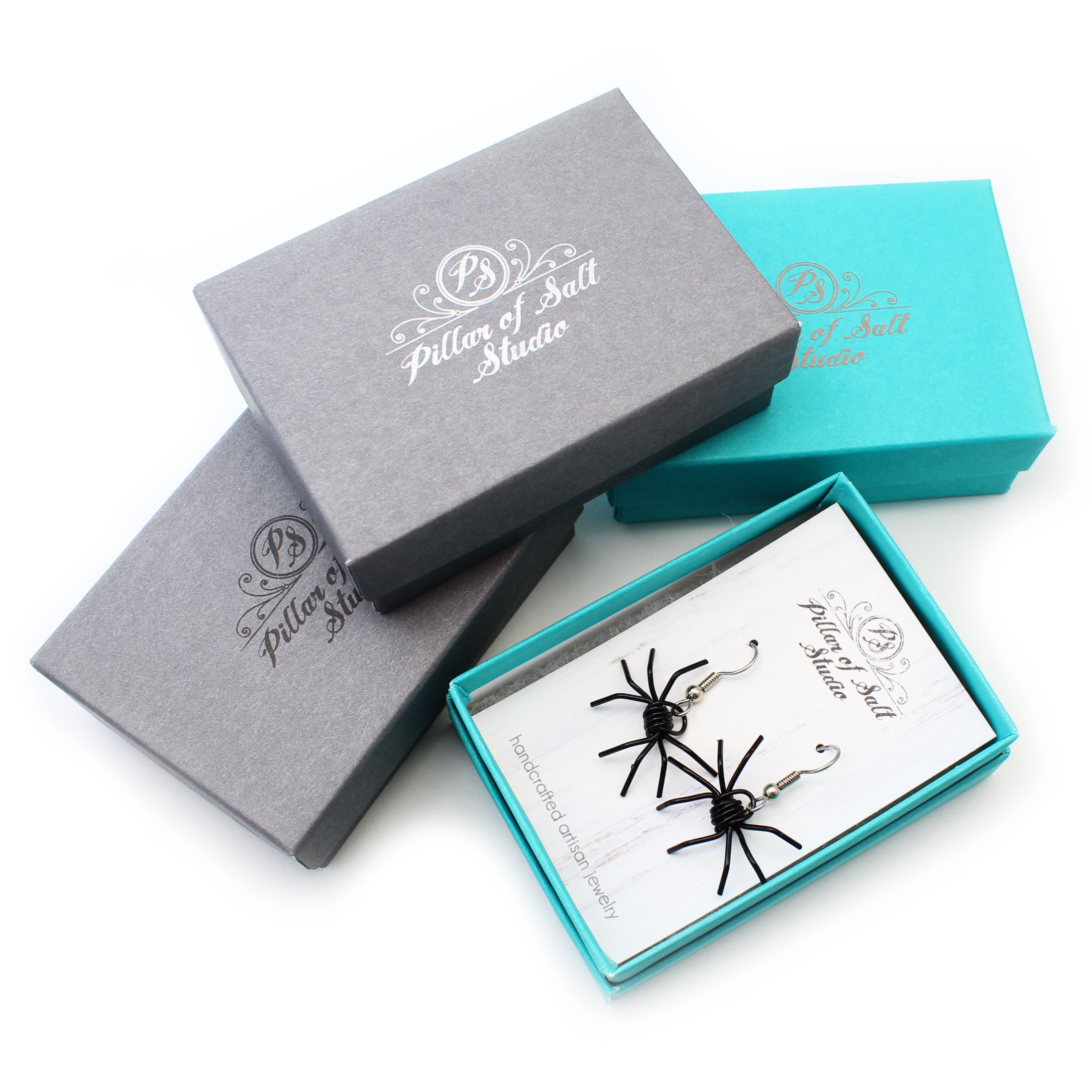 Your earrings come packaged in a small jewelry box. Gift wrapping is also available at checkout.