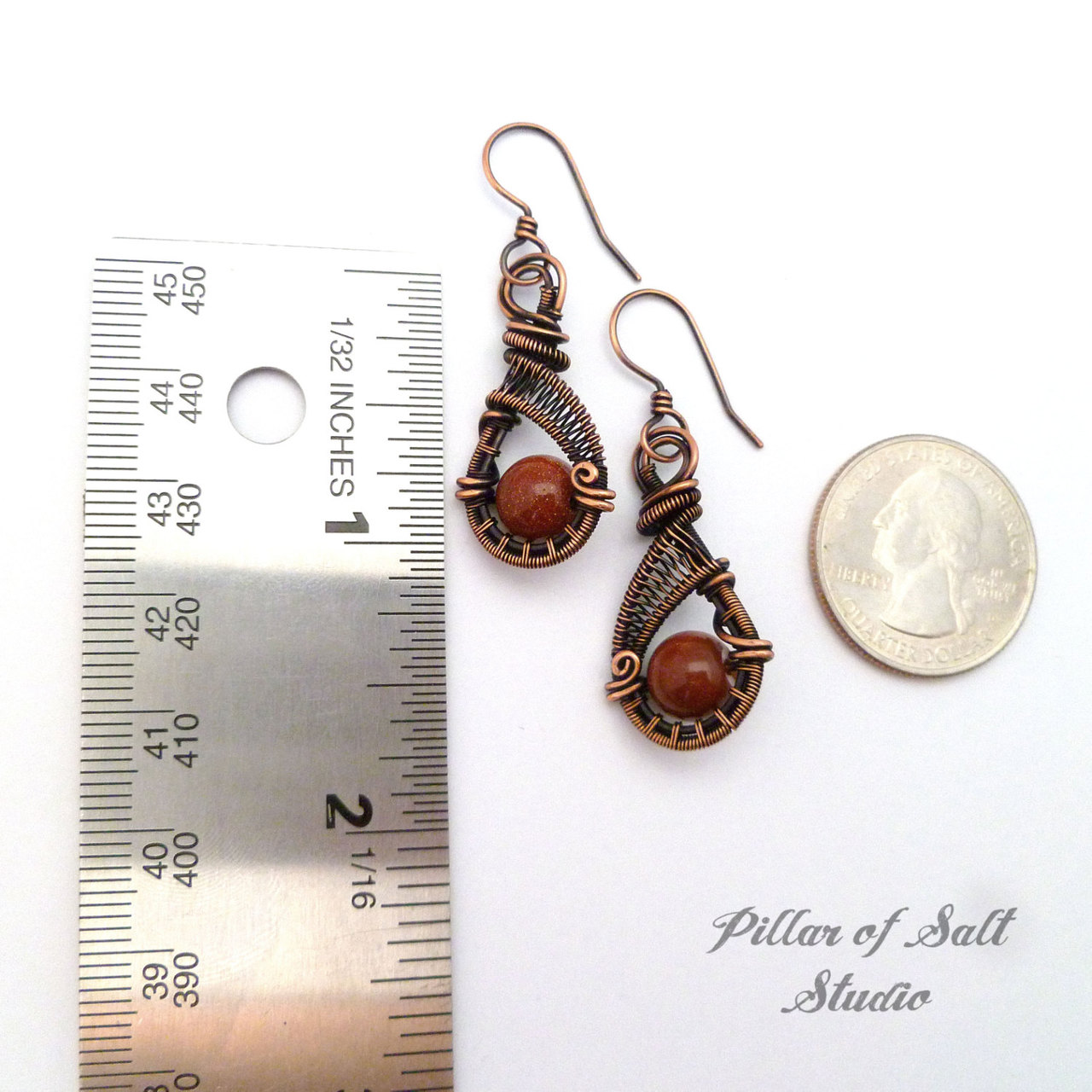 wire wrapped earrings jewelry by Pillar of Salt Studio