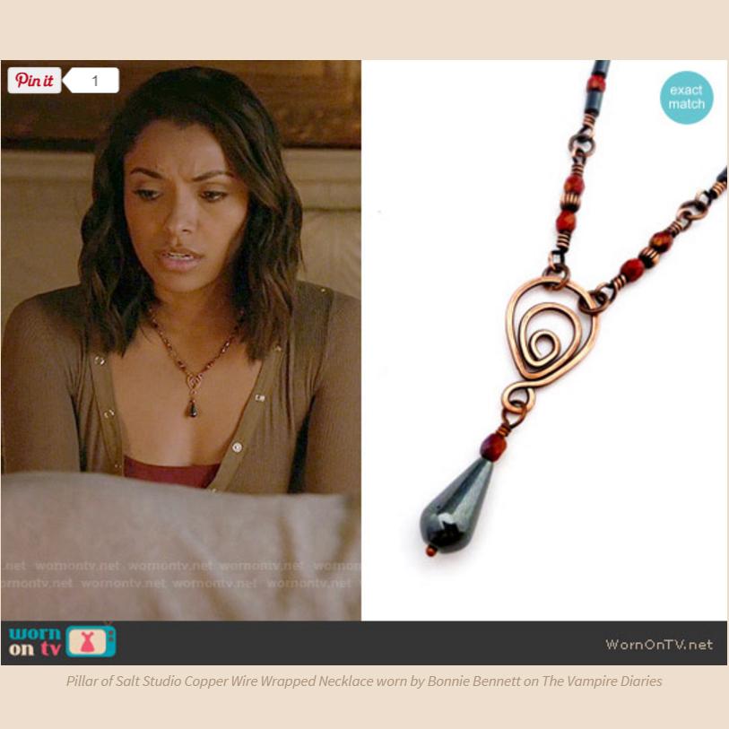 Vampire Diary jewelry worn on TV by Bonnie Bennett from Pillar of Salt Studio