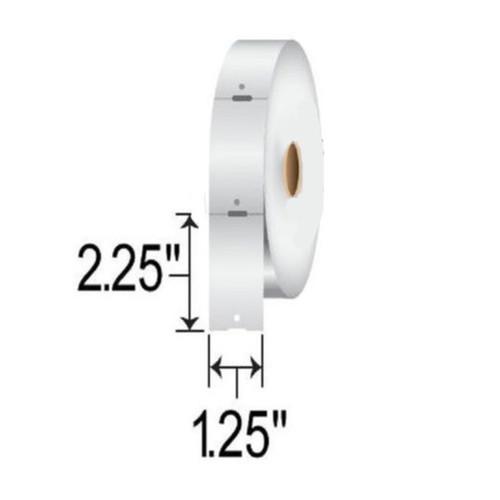 10010053R Zebra Z-Select 4000D 7.5 mil Tag 1.25x2.25 Paper Label - Single Roll| 10010053R