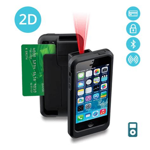 Linea Pro 5 iPhone 5/5s – 2D Barcode Scanner w/ Encrypted MSR – Intermec Scan Engine (LP5-i2DBTRE-PH5)