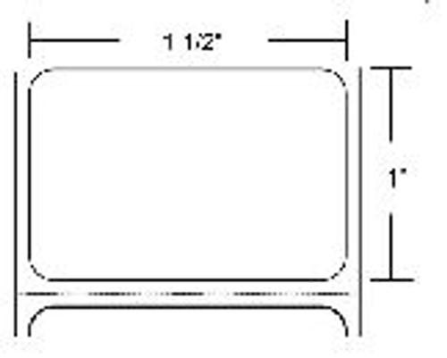 83258 Zebra Z-Select 4000T 1.5x1 Paper Label 8/Case | 83258
