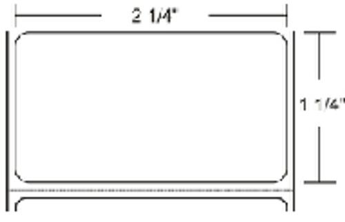 800272-125 Zebra Z-Select 4000T 2.25x1.25 Paper Label 12/Case | 800272-125