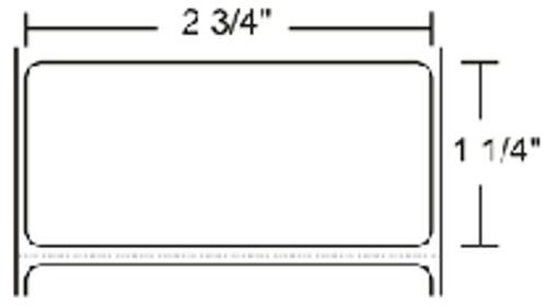 83260 Zebra Z-Select 4000T 2.75x1.25 Paper Label 4/Case | 83260