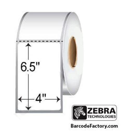 83257 Zebra Z-Select 4000T 4x6.5 Paper Label 4/Case | 83257