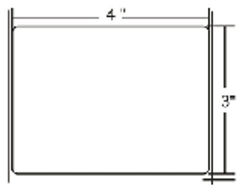 83262 Zebra Z-Select 4000T 4x3 Paper Label 4/Case | 83262