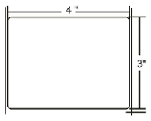 800274-305 Zebra Z-Select 4000T 4x3 Paper Label 12/Case | 800274-305