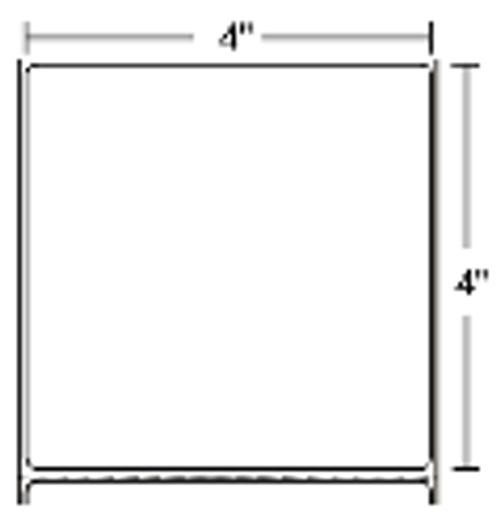 800274-405 Zebra Z-Select 4000T 4x4 Paper Label 12/Case | 800274-405