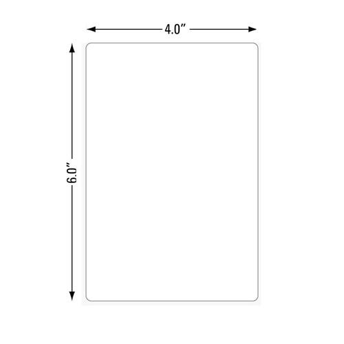 800274-605 Zebra Z-Select 4000T 4x6 Paper Label 12/Case | 800274-605