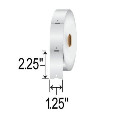 10010053 Zebra Z-Select 4000D 7.5 mil Tag 1.25x2.25 Paper Label 6/Case | 10010053