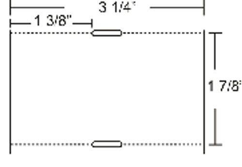 10010055 Zebra Z-Select 4000D 7.5 mil Tag w/Sensing Notch 3.25x1.875 Paper Label 6/Case | 10010055
