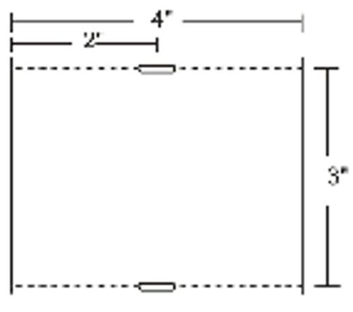 10010056 Zebra Z-Select 4000D 7.5 mil Tag w/Sensing Notch 4x3 Paper Label 4/Case | 10010056