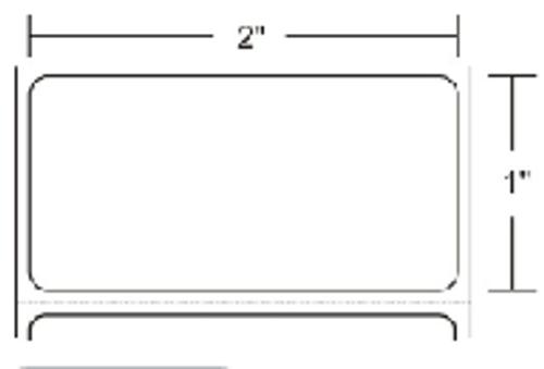 10002629 Zebra Z-Ultimate 4000T White 2x1 Synthetic Label 8/Case | 10002629