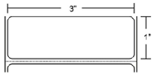 10002630 Zebra Z-Ultimate 4000T White 3x1 Synthetic Label 6/Case | 10002630