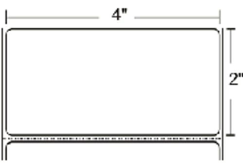 10002631 Zebra Z-Ultimate 4000T White 4x2 Synthetic Label 4/Case | 10002631