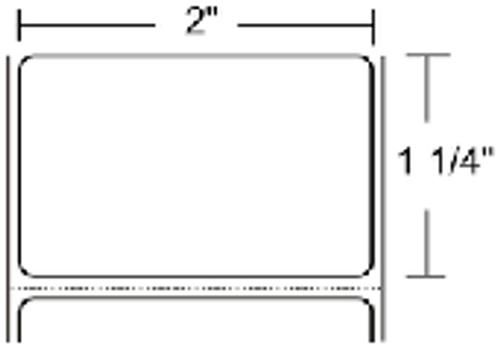 LD-R2AL5B Zebra Z-Perform 1000D 2x1.25 Paper Label 36/Case | LD-R2AL5B