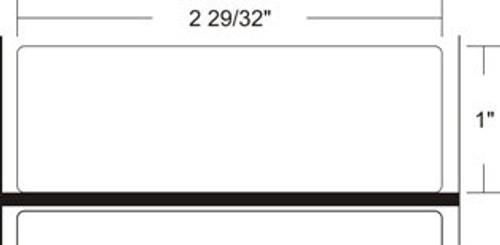 LD-R3TU5B Zebra Z-Perform 1000D 2.9x1 Paper Label 36/Case | LD-R3TU5B