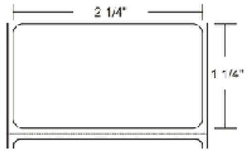800322-125 Zebra Z-Select 4000D 2.25x1.25 Paper Label 12/Case | 800322-125