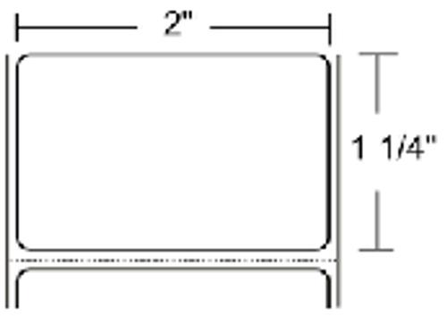 LD-R2BF5W Zebra PolyPro 4000D 2x1.25 Synthetic Label 36/Case | LD-R2BF5W
