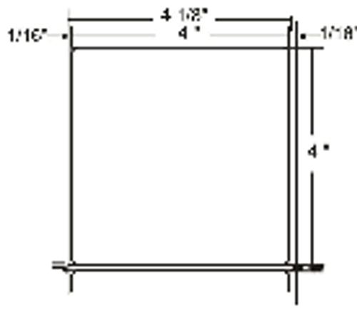 10000292 Zebra Z-Perform 2000D 4x4 Paper Label 4/Case | 10000292