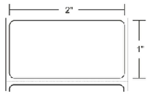 10000288 Zebra Z-Perform 2000T 2x1 Paper Label 10/Case | 10000288