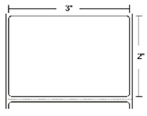 10000286 Zebra Z-Perform 2000T 3x2 Paper Label 6/Case | 10000286