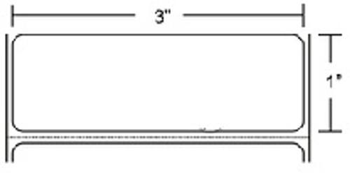 10000287 Zebra Z-Perform 2000T 3x1 Paper Label 6/Case | 10000287
