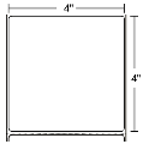 10000283 Zebra Z-Perform 2000T 4x4 Paper Label 4/Case | 10000283