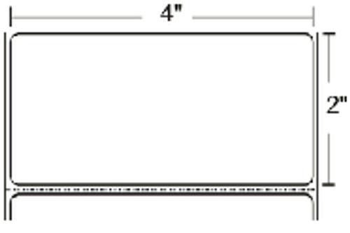 10000285 Zebra Z-Perform 2000T 4x2 Paper Label 4/Case | 10000285