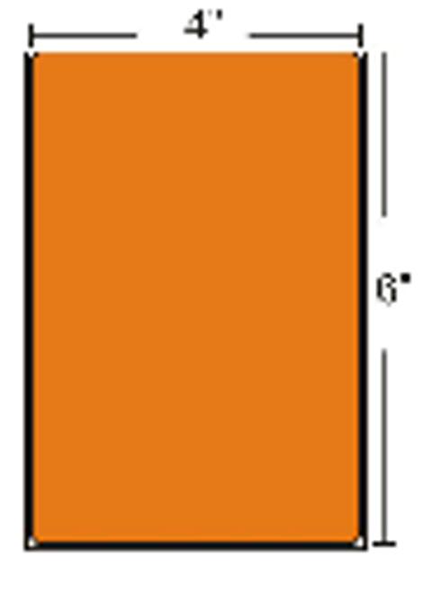 10006208-4 Zebra Z-Perform 2000T Floodcoated - Orange 4x6 Paper Label 4/Case | 10006208-4