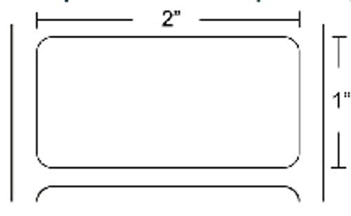 72275 Zebra Z-Select 4000D 2x1 Paper Label 8/Case | 72275