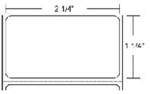 10002635 Zebra Z-Select 4000D 2.25x1.25 Paper Label 8/Case   10002635
