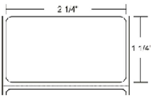 72276 Zebra Z-Select 4000D (No Perf) 2.25x1.25 Paper Label 8/Case   72276