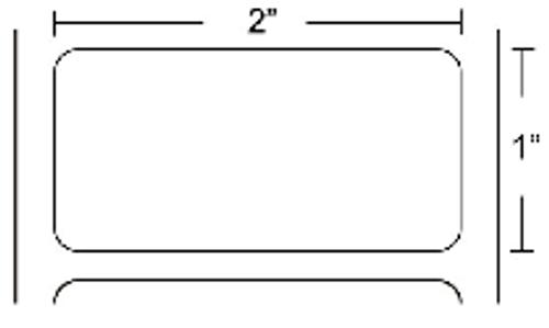 72281 Zebra Z-Select 4000T 2x1 Paper Label 10/Case | 72281
