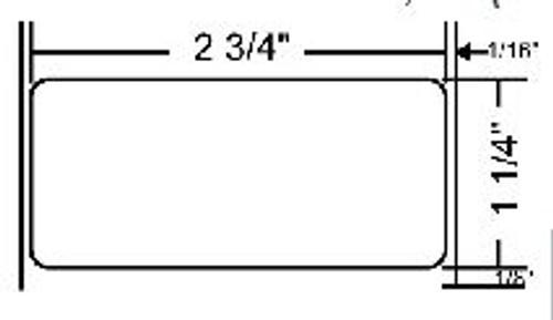 72282 Zebra Z-Select 4000T 2.75x1.25 Paper Label 8/Case | 72282