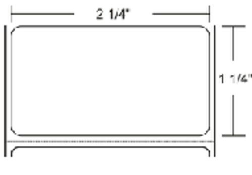 72283 Zebra Z-Select 4000T (No Perf) 2.25x1.25 Paper Label 8/Case | 72283