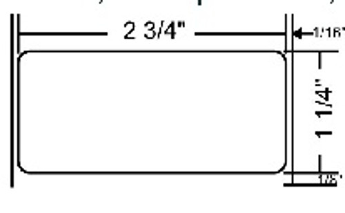 72369 Zebra Z-Select 4000T All-Temp 2.75x1.25 Paper Label 8/Case | 72369