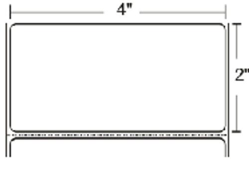 10002634 Zebra Z-Ultimate 2000T White 4x2 Synthetic Label 4/Case | 10002634