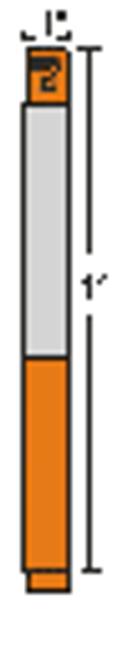 10006995-6K Zebra HC100 Z-Band Direct Wristband Cartridge (Orange) 1x11 Synthetic Label 6/Case | 10006995-6K