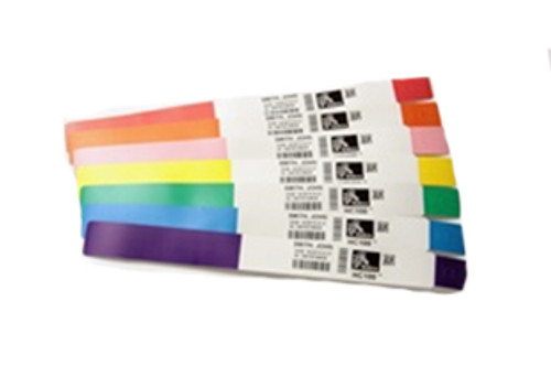 10006996K Zebra HC100 Z-Band Direct Wristband Cartridge (White) 1.1875x11 Synthetic Label 6/Case | 10006996K