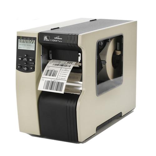 112-801-00100 - ZEBRA 110Xi4 203DPI,10/100,US CORD CUTTER W/TRAY MEDIA DOOR