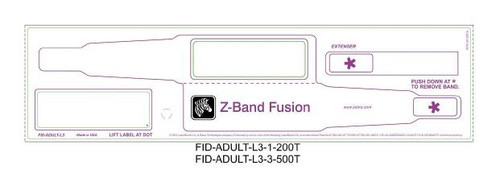"Health Care Media for Wristbanding Use (Z-Band Fusion) Z-Band Fusion 2.75"" x 0.875"" 